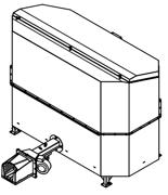 06652832 Automatyczny podajnik do spalania biomasy 2m3 400V 30kW, głowica żeliwna (paliwo: trociny, wióry, zrębki, kora, brykiet, agrobrykiet, pellet, pestki owoców)