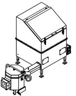06652917 Automatyczny podajnik do spalania biomasy 1m3 400V 30kW, głowica: ceramiczna (paliwo: trociny, wióry, zrębki)