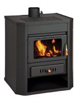 23055347 Piec wolnostojący 15kW na drewno, węgiel (górny wylot spalin: 130mm)