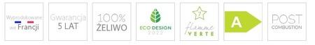 BINIKTA Piec wolnostojący Invicta 7kW Seville (wylot spalin: góra, kolor: antracyt) - spełnia anty-smogowy EkoProjekt 86865694