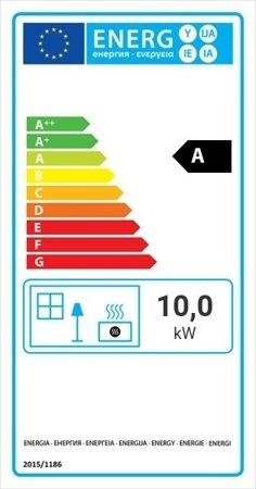 DOSTAWA GRATIS! 30046760 Wkład kominkowy 10kW Nadia Gilotyna (szyba prosta, drzwi podnoszone do góry) - spełnia anty-smogowy EkoProjekt