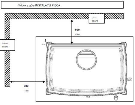 DOSTAWA GRATIS! 86854947 Piec wolnostojący Invicta 10kW Sedan M (kolor: emalia szara) - spełnia anty-smogowy EkoProjekt