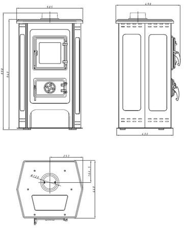 DOSTAWA GRATIS! 88872833 Piec wolnostojący MBS 2-11kW Hit (kolor: beżowy) - spełnia anty-smogowy EkoProjekt