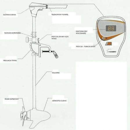 KOLAG Silnik elektryczny (uciąg: 70 LBS, moc: 3 HP) 22678165
