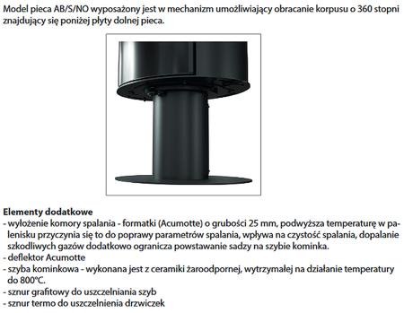 KONS Piec wolnostojący koza 8kW AB (z panelami kaflowymi - czarny) - spełnia anty-smogowy EkoProjekt 30060589