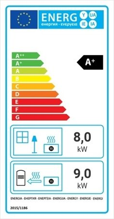 KONS Wkład kominkowy 17kW MBA PW BS z płaszczem wodnym, wężownicą (lewa boczna szyba bez szprosa) - spełnia anty-smogowy EkoProjekt 30066822
