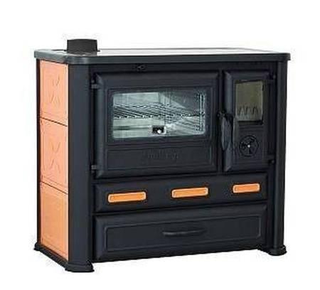 Kuchnia wolnostojąca, angielka na drewno 8-9kW, bez płaszcza wodnego (kolor: pomarańczowy) 27776227