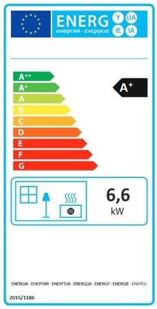 POMA Piec wolnostojący La Nordica 6,6kW Tea (kolor: biały) - spełnia anty-smogowy EkoProjekt 88855039