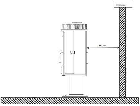 Piec wolnostojący Invicta 10kW Mairy (górna średnica wylotu spalin: 150mm, kolor: antracyt) - spełnia anty-smogowy EkoProjekt 86854942