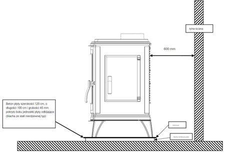 Piec wolnostojący Invicta 10kW Sedan M (kolor: antracyt) - spełnia anty-smogowy EkoProjekt 86829180