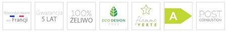Piec wolnostojący Invicta 7kW Okino (wylot spalin: góra, kolor: antracyt) - spełnia anty-smogowy EkoProjekt 86854923