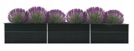 SEDEN Donica doniczka ogrodowa na kwiaty skrzynia stal (wymiary: 480 x 80 x 45 cm) 22778050