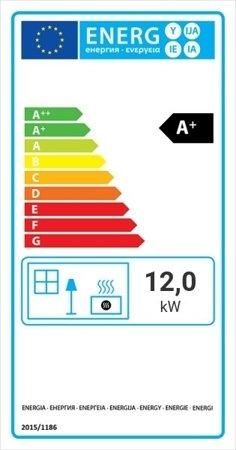Wkład kominkowy 12kW Zosia Eco (szyba prosta) - spełnia anty-smogowy EkoProjekt 30066811