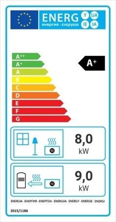Wkład kominkowy 17kW MBA PW BS z płaszczem wodnym, wężownicą (prawa boczna szyba bez szprosa) - spełnia anty-smogowy EkoProjekt 30066822