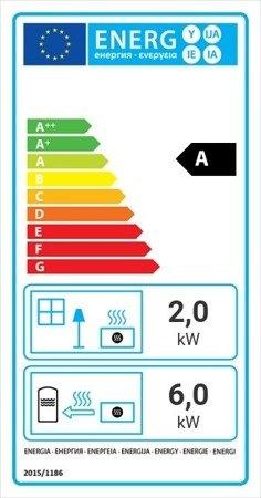 Wkład kominkowy 8kW Maja Gilotyna z płaszczem wodnym, wężownicą (szyba prosta podnoszona do góry) - spełnia anty-smogowy EkoProjekt 30041194